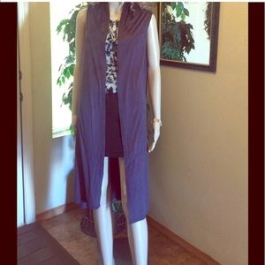 Other - Long Gray Vest Sz lg